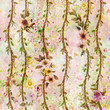 Watercolor painting of leaf and flowers, seamless pattern on white background - 249086568