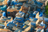 View from Meherangarh Fort to Jodhpur, the Blue City of Rajasthan, India. - 249088170