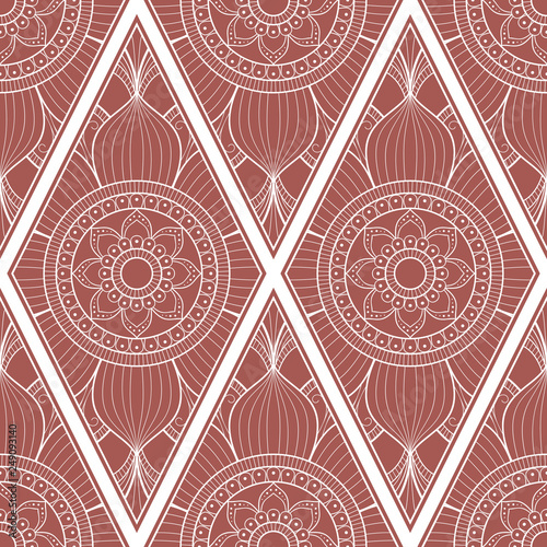 Line art seamless pattern for fabric or wrapping paper. Background with hand-drawn elements