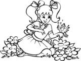 Dziewczynka na kwiatowej łące