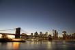 New York skyline with Brooklyn Bridge