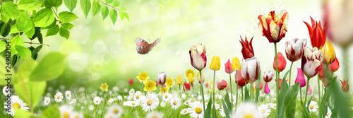 Leinwandbild Motiv Blumen 1032