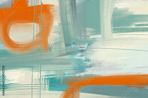 Abstract art background.  Multicolored bright texture.  Brushstrokes of paint. Modern art. Contemporary art. - Illustration © jenteva