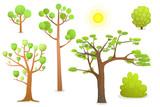 Isolated Cartoon Trees