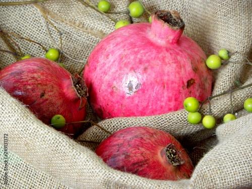 Foto Murales ripe red pomegranate
