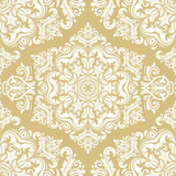 Orient vector classic yellow and white pattern. Seamless abstract background with vintage elements. Orient background. Ornament for wallpaper and packaging - 249131917