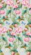 Lotus flowers seamless background pattern. Version 5 - 249132572
