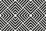 Seamless background for your designs. Modern vector black and white ornament. Geometric abstract pattern - 249133137