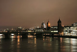 St Paul's Cathedral and Southwark Bridge at Night