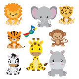 Jungle animals clip art
