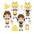 Bee costume clip art - 249159369