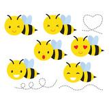 Bee smiley clip art