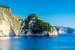 Greece, Zakynthos, Green plakaki isle at coast near agalas