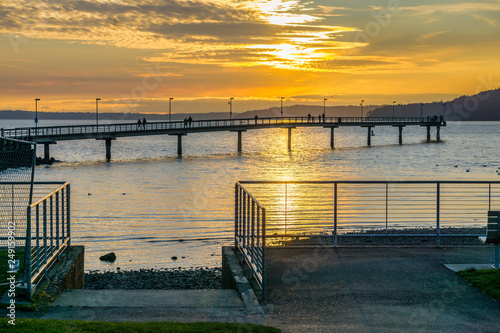 Sun And Pier Silhouette 6 © George Cole