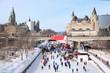 Rideau Canal Ice Skating Rink in winter, Ottawa, Canada