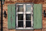 old open window