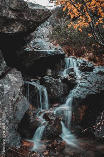 water flows from the Tatry mountain - 249181953