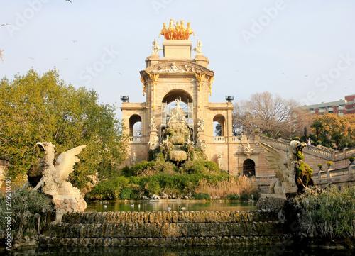 mata magnetyczna Parc de la Ciutadella Barcelone Espagne Touristique
