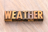 weather word in wood type - 249211903