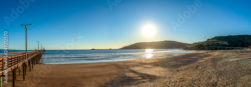 Pier, Beach, Sand, and Sun Panorama  - 249212570