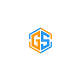 letter GS initial logo template vector illustration icon element