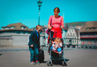 family with kids travel in Europe, mother with kids in Zurich, Switzerland