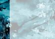 Leinwanddruck Bild - Watercolor bouquet of blue, green flowers, Beautiful abstract splash of paint, fashion illustration. knapweed flowers, wildflowers, field or garden flowers. Vintage card. Grunge art background.