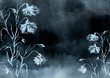 Leinwanddruck Bild - Watercolor bouquet of  flowers, Beautiful abstract splash of paint, fashion illustration. knapweed flowers, wildflowers, field or garden flowers. Vintage card. Grunge art background.
