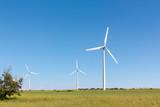Aerogeneradores en paisaje rural - 249262366
