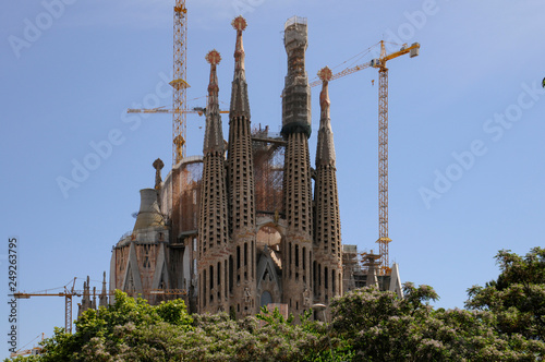 fototapeta na ścianę Sagrada Família church in Barcelona