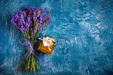 Lavender bouquet on background