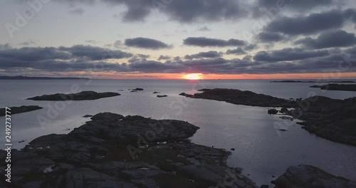 Stunning sunset over the horizon