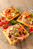 pizza waffle with vegetable - 249276183