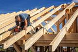 Fototapeta Las - carpenters at work xxl: bartussek.xmstore © Ingo Bartussek