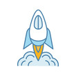 Startup launch color icon