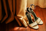 Beautiful white shoes for bride - 249296931