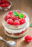 Raspberry layered dessert