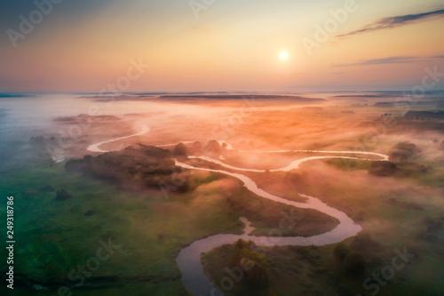 Leinwanddruck Bild Spring colorful landscape