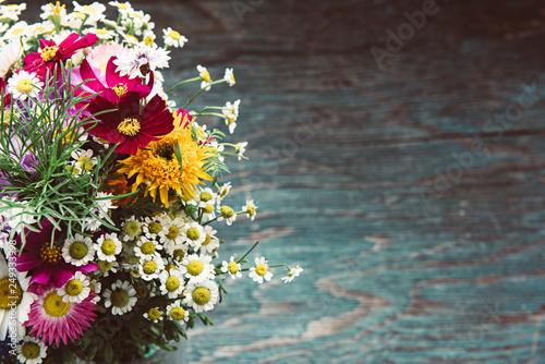 Leinwanddruck Bild Summer flowers design