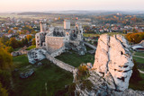 medieval castle ruins located in Ogrodzieniec, Poland - 249343954