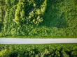 Quadro road and farmland aerial view