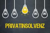 Privatinsolvenz / Tafel mit Glühbirnen.jpg - 249355332