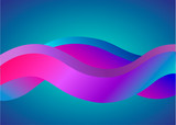 The curve colorful wave abstract background - Vector
