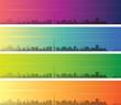 Dublin Multiple Color Gradient Skyline Banner - 249388782