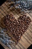 Heart of coffee beans. - 249391308