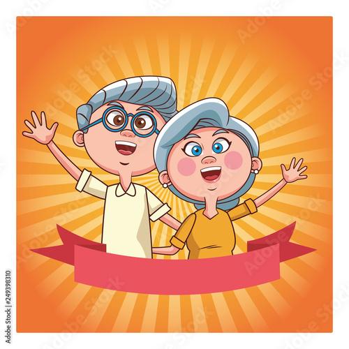 elder couple banner shine - 249398310