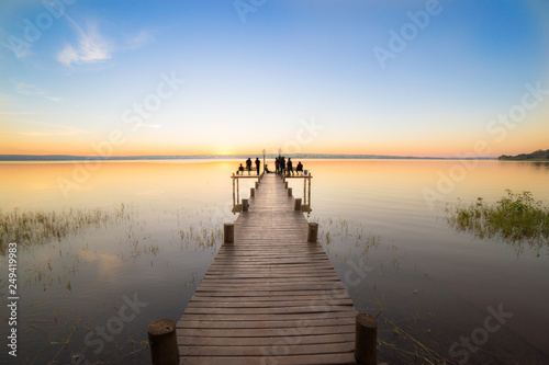pier on the lake © Augusto