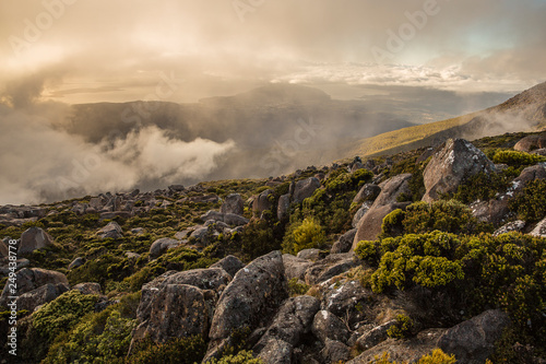 Sunrise over Mount Wellington (Kunanyi), Tasmania