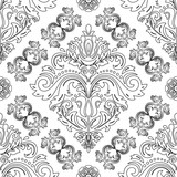 Orient classic pattern with black outline. Seamless abstract background with vintage elements. Orient background - 249460536