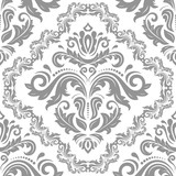 Orient classic silver pattern. Seamless abstract background with vintage elements. Orient background - 249460902